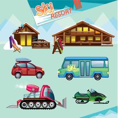ski resort set
