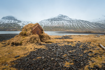 The landscape in east fjord of Iceland.