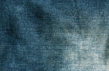 Cyan jeans cloth texture.