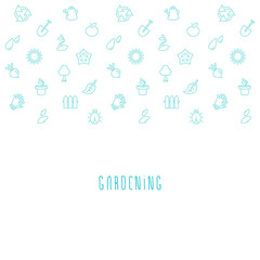 Vector gardening eco background