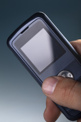 cell phone in man hand