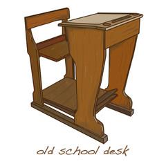 school desk vintage vector