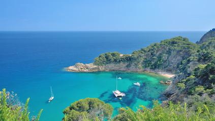 malerische Bucht an der Costa Brava nahe Tossa de Mar,Katalonien,Spanien