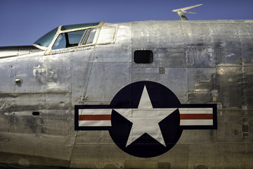 Vintage 1950's and 1960's American Bomber fuselage