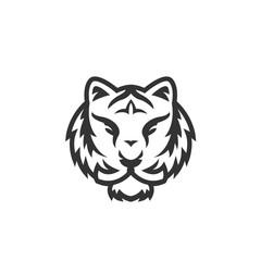 Tiger logo on white background
