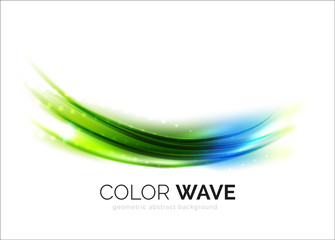 Blurred vector wave design elements
