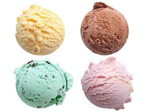 Ice cream scoops flavors