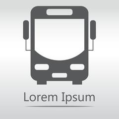 Bus vector icon. eps 10