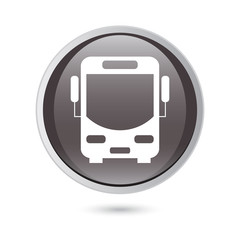 Bus vector icon. black icon