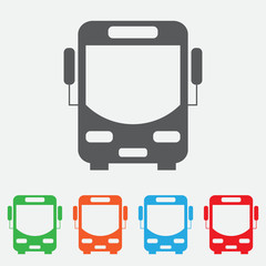 Bus vector icon. color icon