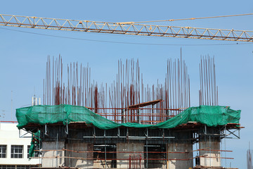 under construction building.
