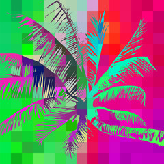 abstract palm in pixels 5