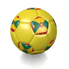 Football soccer ball with a national flag texture