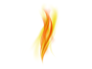 Warm abstract flames on white background, vector illustration