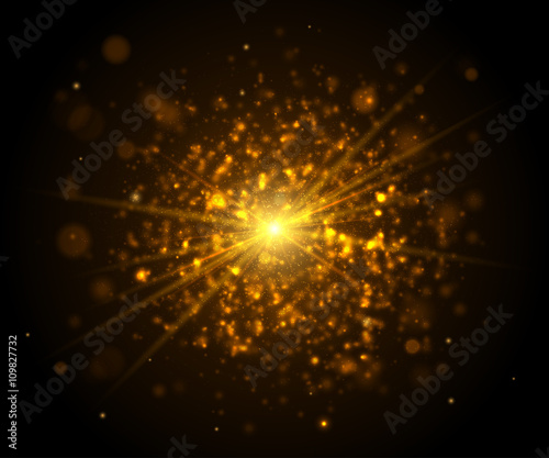Golden light glare. Cosmic glows lighting effects with flash : glow lighting effect - azcodes.com