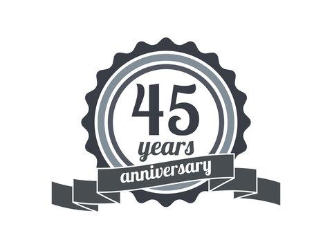 45th year anniversary logo