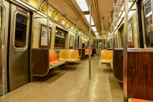 nyc subway car interior stock photo and royalty free images on pic 109833180. Black Bedroom Furniture Sets. Home Design Ideas