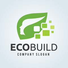 green logo concept,idea logo,eco logo.life and healthy logo. vector logo template.