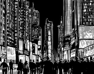Interpretation of Times Square in New York