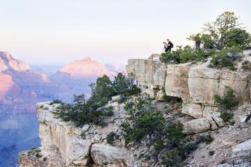 Photographing Grand Canyon National Park at sunset, Arizona, USA