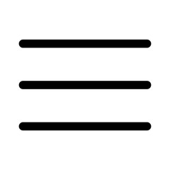 Hamburger menu button line icon for apps and websites