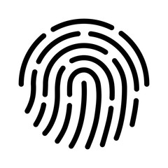 Fingerprint ID line art icon for apps with security unlock
