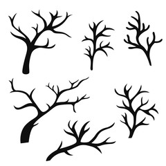 hand drawn tree branches
