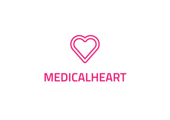 Medical Heart - Medical Company Logo