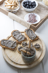 toasted bread with olive pate