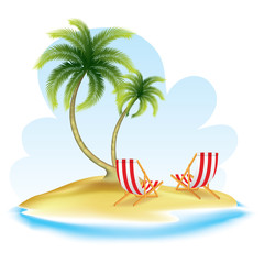 Summer realistic design. vector