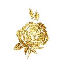 Glowing golden rose