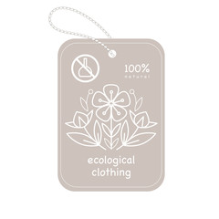 Label organic clothing.