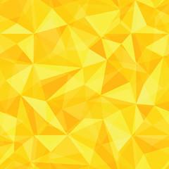 Golden Seamless Pattern of geometric shapes