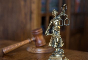 Wooden gavel barrister, justice concept , law
