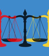 Balance de la justice pop art