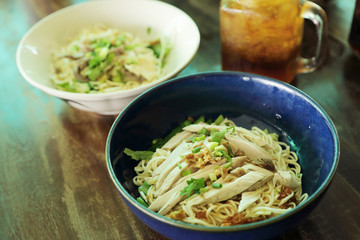 Chinese vermicelli noodle with chicken recipe.