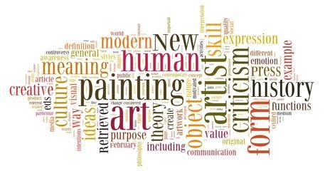 Art in word cloud