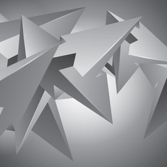More shapes, unreal construction, geometric elements, many arrows, abstract vector design composition for you project