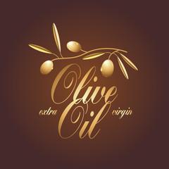 Olive oil vector design element, logo
