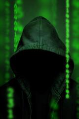 Hacker anonym mit Code