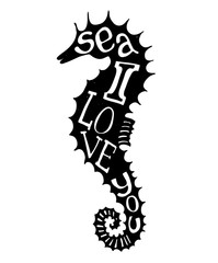 Hand-drawn vector illustration - Quote inscribed in silhouette s