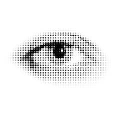 Vector halftone human eye
