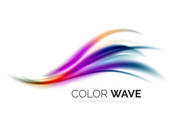 Glossy wave isolated on white background