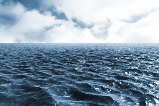 Composite image of blue ocean