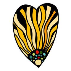 Heart of flowers zentangle pattern