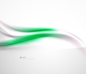 Futuristic green color in wave template