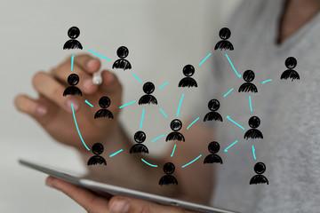 Fototapeta network