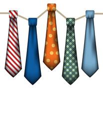 Men's Neck Ties on White