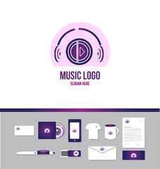 Music headphones logo