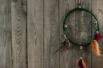 Indian dream - catcher on boards